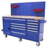 George Tools Banco da Lavoro mobile completo 1500 mm blu - 156 pezzi