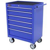 George Tools carrello porta attrezzi 6 cassetti blu