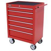 George Tools carrello porta attrezzi 6 cassetti rosso