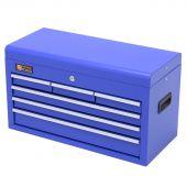 Cassetta per gli attrezzi blu in metallo con serratura e 6 cassetti