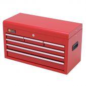 Cassetta per gli attrezzi rossa in metallo con serratura e 6 cassetti