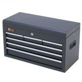 Cassetta per gli attrezzi grigia in metallo con serratura e 6 cassetti