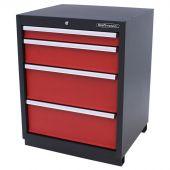 Kraftmeister armadio 4 cassetti Premium - Rosso
