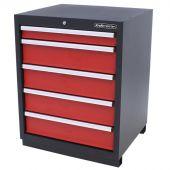 Kraftmeister armadio 5 cassetti Premium - Rosso