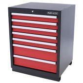 Kraftmeister armadio 7 cassetti Premium - Rosso