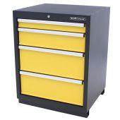 Kraftmeister armadio 4 cassetti Premium - giallo | George at Work