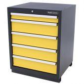 Kraftmeister armadio 5 cassetti Premium - giallo
