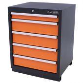 Kraftmeister armadio 5 cassetti Premium - arancione
