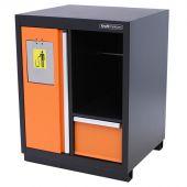 Kraftmeister cestino portarifiuti con portarotolo di carta arancione - Nextgen