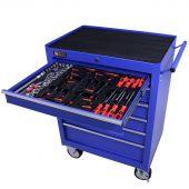 George Tools carrello portautensili con utensili 6 cassetti 80 pezzi blu
