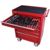 George Tools carrello portautensili con utensili 6 cassetti 80 pezzi rosso