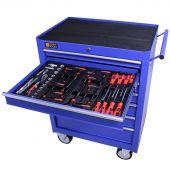George Tools carrello portautensili con utensili 7 cassetti 80 pezzi blu