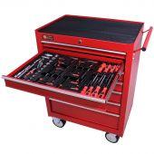George Tools carrello portautensili con utensili 7 cassetti 80 pezzi rosso