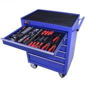 George Tools carrello portautensili con utensili 6 cassetti 144 pezzi blu