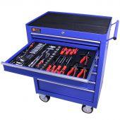 George Tools carrello portautensili con utensili 7 cassetti 144 pezzi blu