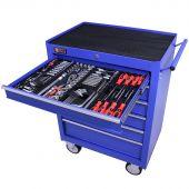 George Tools carrello portautensili con utensili 6 cassetti 209 pezzi blu