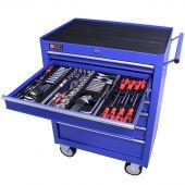 George Tools carrello portautensili con utensili 7 cassetti 209 pezzi blu