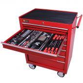 George Tools carrello portautensili con utensili 7 cassetti 209 pezzi rosso