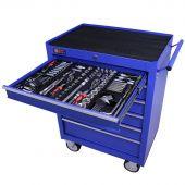 George Tools carrello portautensili con utensili 6 cassetti 253 pezzi blu