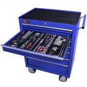 George Tools carrello portautensili con utensili 7 cassetti 253 pezzi blu