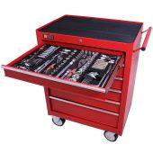 George Tools carrello portautensili con utensili 6 cassetti 253 pezzi rosso