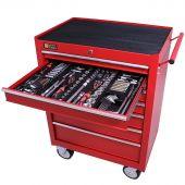 George Tools carrello portautensili con utensili 7 cassetti 253 pezzi rosso