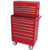 George Tools carrello porta attrezzi con cassetta e 13 cassetti rosso