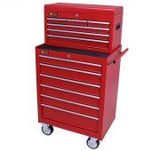 George Tools carrello porta attrezzi con cassetta e 12 cassetti rosso