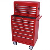 George Tools carrello porta attrezzi con cassetta e 11 cassetti rosso