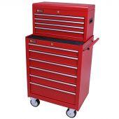 George Tools carrello porta attrezzi con cassetta e 10 cassetti rosso