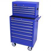 George Tools carrello porta attrezzi con cassetta e 13 cassetti blu
