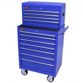 George Tools carrello porta attrezzi con cassetta e 11 cassetti blu