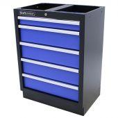 Kraftmeister cassettiera per utensili con 5 cassetti Standard blu