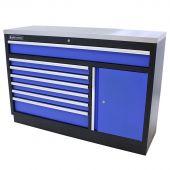 Kraftmeister cassettiera per utensili XL in Acciaio Inox Standard blu