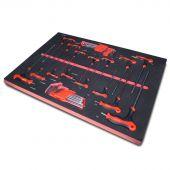 Kraftmeister sagoma utensili 6. set chiavi a brugola e torx, 33 pezzi