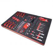Kraftmeister sagoma utensili 8. Set cricchetto, bussole, cacciavite, esagonale e torx, 116 pezzi