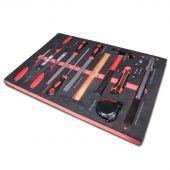 Kraftmeister sagoma utensili 9. Set Lime, lime quadre, martelli e misuratori, 13 pezzi