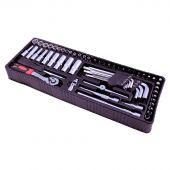 George Tools modulo 0 - Set cricchetto e chiavi a bussola 61 pezzi