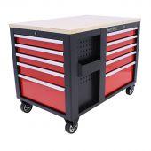 Carrello porta attrezzi di Kraftmeister - Piano di lavoro mobile Redline XL Premium - 10 cassetti
