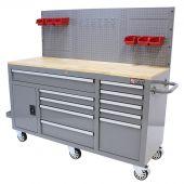 George Tools Banco da Lavoro Mobile 1500 mm 10 cassetti grigio
