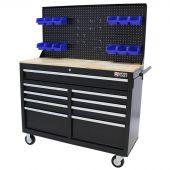 George Tools Banco da Lavoro Mobile 1100 mm 9 cassetti nero