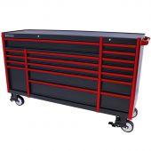 Carrello porta attrezzi Everest 72 Industrial nero/rosso - 17 cassetti di Kraftmeister