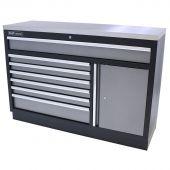 Kraftmeister cassettiera per utensili XL in Acciaio Inox Standard grigio