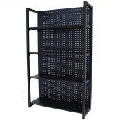 Rack di stoccaggio in metallo con parete portaoggetti 120
