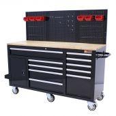 George Tools Banco da Lavoro Mobile completo 1500 mm nero - 156 pezzi